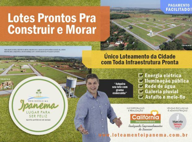 RESIDENCIAL IPANEMA – SANTO ANTÔNIO DE GOIÁS